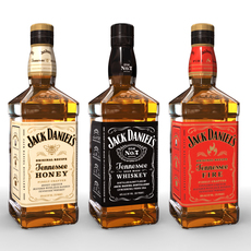 Jack Daniels Bottle Set 3D Model