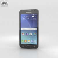 Samsung Galaxy J2 Black 3D Model
