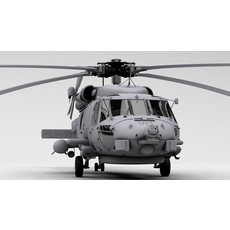 MH-60R Danish Seahawk Navy Helicopter 3D Model