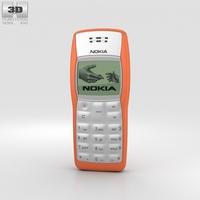Nokia 1100 Orange 3D Model