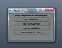 VraySubDiv v2 0.0.2 for Maya (maya script)