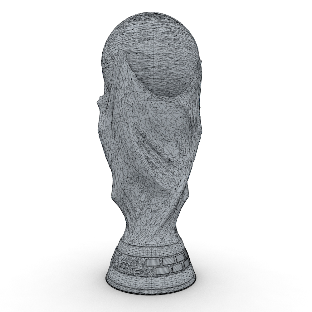 Fifa World Cup Trophy Low Res 3d Model
