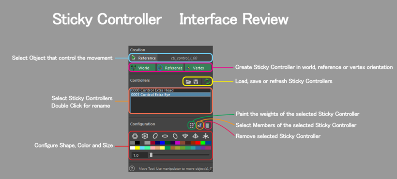 Sticky Controller for Maya