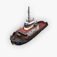 Tugboat 3D Model