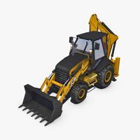 JCB Loader Backhoe 3D Model