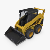 Skid-Steer Loader 3D Model