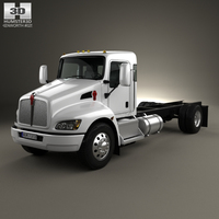 Kenworth T370 Chassis Truck 2009 3D Model