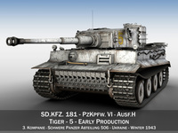 Panzer VI - Tiger - 5 - Early Production 3D Model