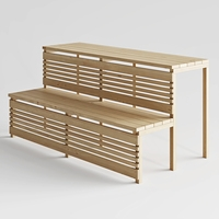 bench for sauna (corona render) 3D Model