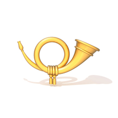 Post horn 3D Model