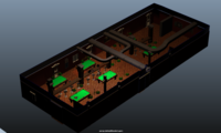 Charlotte Room Pool Hall 3D Model