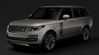 Range Rover Supercharged L405 2018 3D Model