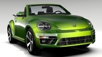 VW Beetle Convertible Turbo 2018 3D Model