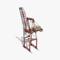 Port Container Crane 3D Model