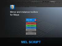 Mirror and instance toolbox 1.0.0 for Maya (maya script)