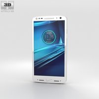 Motorola Droid Turbo 2 Winter White Soft-Grip 3D Model