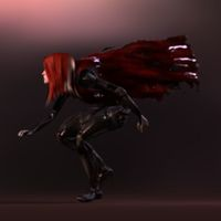 Woman Game Character 3D Model