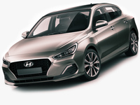 Hyundai i30 Fastback 2018 3D Model