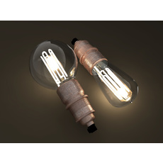 Eco-filament light bulbs combo 3D Model