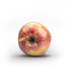 Photorealistic Fresh Red Green Apple 3D Model