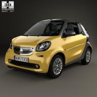 Smart Fortwo Cabrio 2014 3D Model