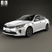 Kia Optima with HQ interior 2016 3D Model