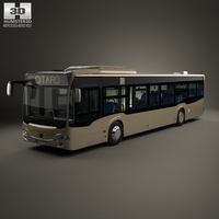 Mercedes-Benz Citaro (O530) Bus with HQ interior 2011 3D Model