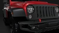 Jeep Wrangler 6x6 Rubicon Recon JK 2017 3D Model