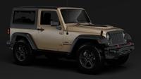 Jeep Wrangler Rubicon Recon JK 2017 3D Model