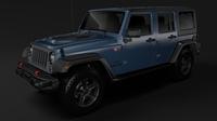 Jeep Wrangler Unlimited Rubicon Recon JK 2017 3D Model