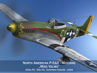 North American P-51D - Mustang - Miss Velma 3D Model