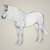 10 33 00 665 photorealistic brown horse 08 4