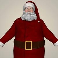 Santa Claus Realistic Character 3D Model