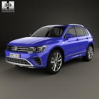 Volkswagen Tiguan GTE 2015 3D Model