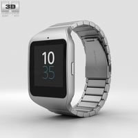 Sony SmartWatch 3 SWR50 Steel 3D Model