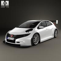 Honda Civic WTCC 2014 3D Model
