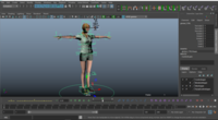 Sinta Blonde woman Character Rig 0.0.1 for Maya