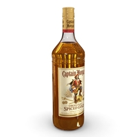 Captain Morgan 1L Bottle 3D Model