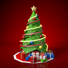 Low Poly Christmas 3D Model