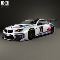 BMW M6 (F13) Coupe GT3 2016 3D Model