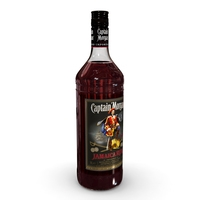 Captain Morgan Jamaica Rum 1L Bottle 3D Model