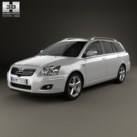 Toyota Avensis wagon 2006 3D Model