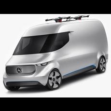 Mercedes Vision Van Concept 3D Model