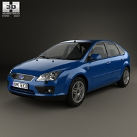 Ford Focus 5-door hatchback 2004 3D Model