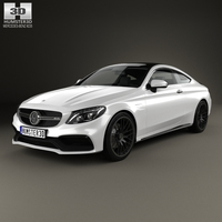 Mercedes-Benz C-Сlass AMG Coupe 2015 3D Model