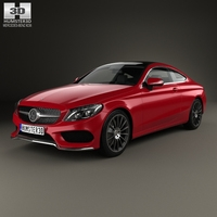 Mercedes-Benz C-Сlass AMG Line Coupe 2015 3D Model
