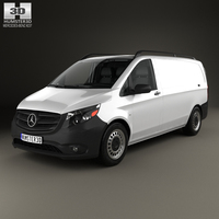Mercedes-Benz Metris Panel Van with HQ interior 2014 3D Model