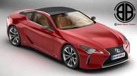 Lexus LC 500 US Hybrid 2018 3D Model