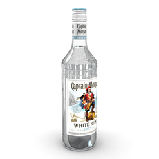 Captain Morgan White 70cl Bottle 3D Model