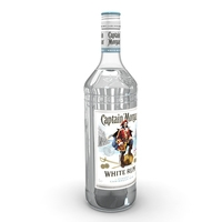 Captain Morgan White 1L Bottle 3D Model